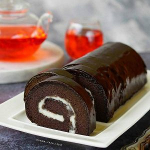 Double Choco Roll Cake