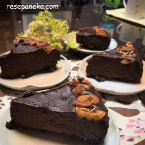 Bake ChocoNut Cheese Cake Super Yummy